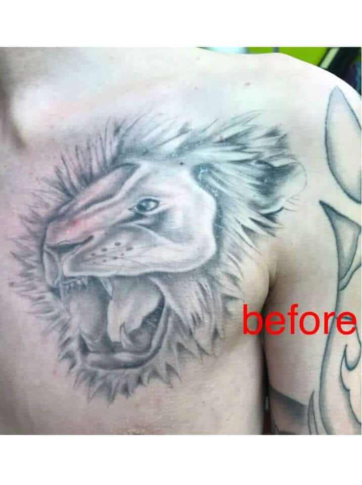 Cover Up by Steve - Tattoo Artist in Dukinfield - Before